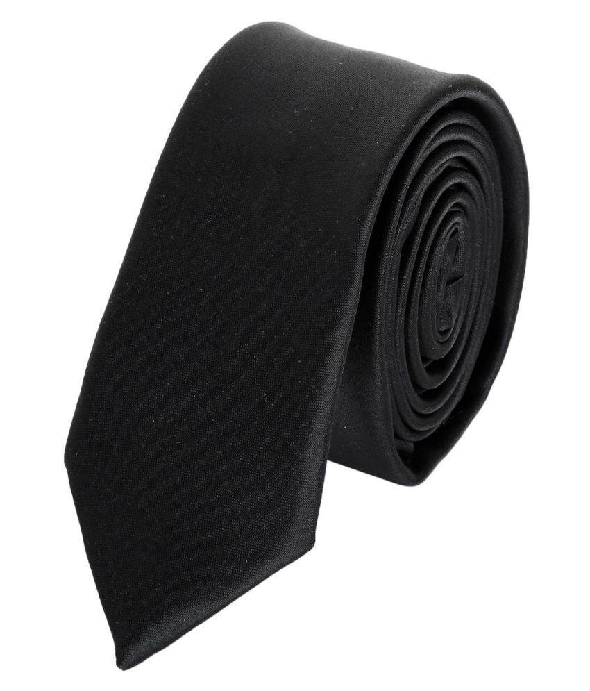 La Mode Black Casual Necktie