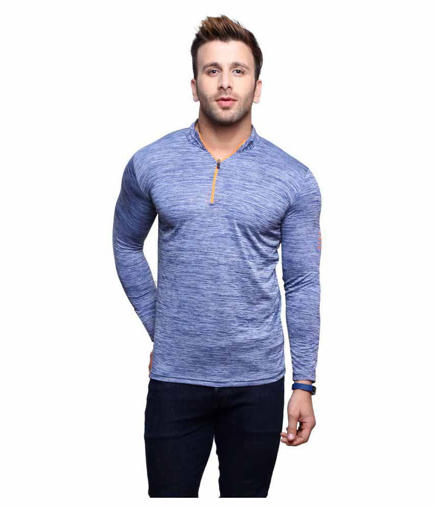 C & S Shopping Gallery Blue V-Neck T-Shirt