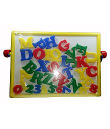 2 in 1 Magnetic Educational Board with Alphabets & Numbers (multicolor)