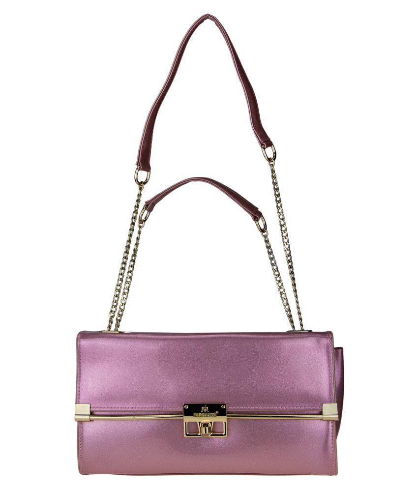 Genious Purple P.U. Sling Bag