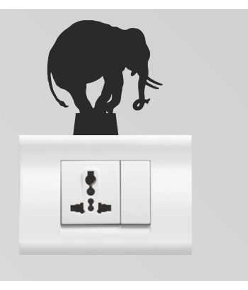 Genesis Arts 3d Elephant High Quality Acrylic Switch Board Stickers  available at snapdeal for Rs.150
