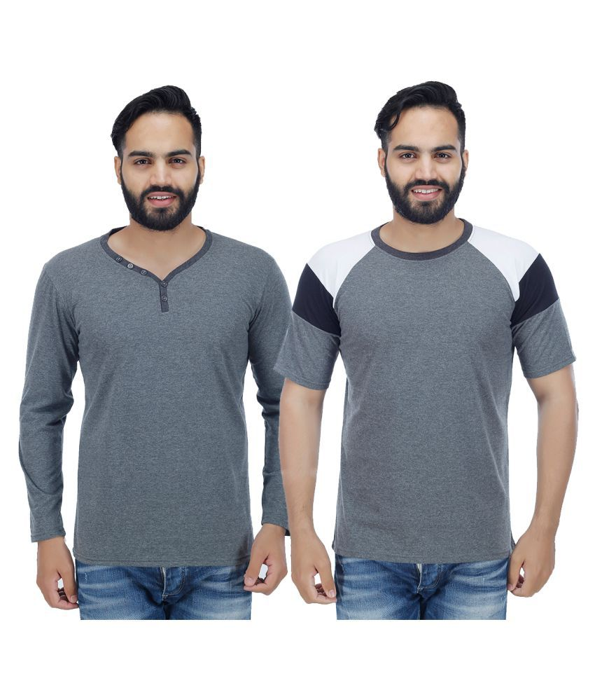 Candy House Grey Round T-Shirt Pack of 2
