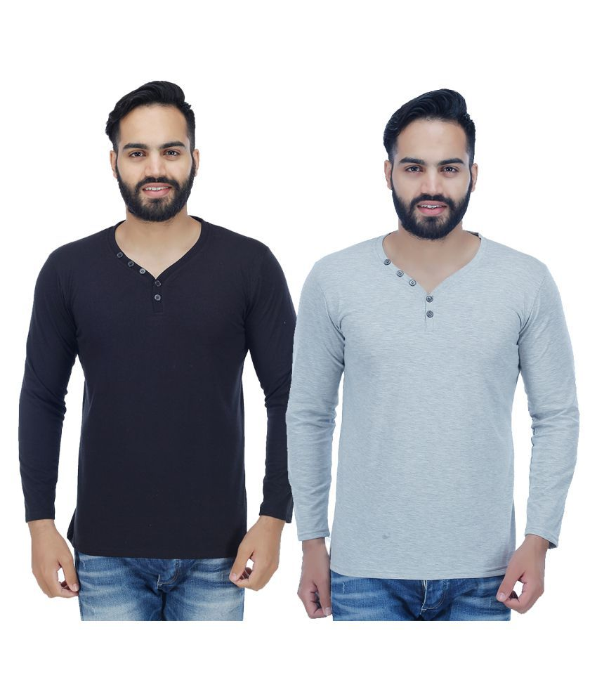 Candy House Multi V-Neck T-Shirt Pack of 2