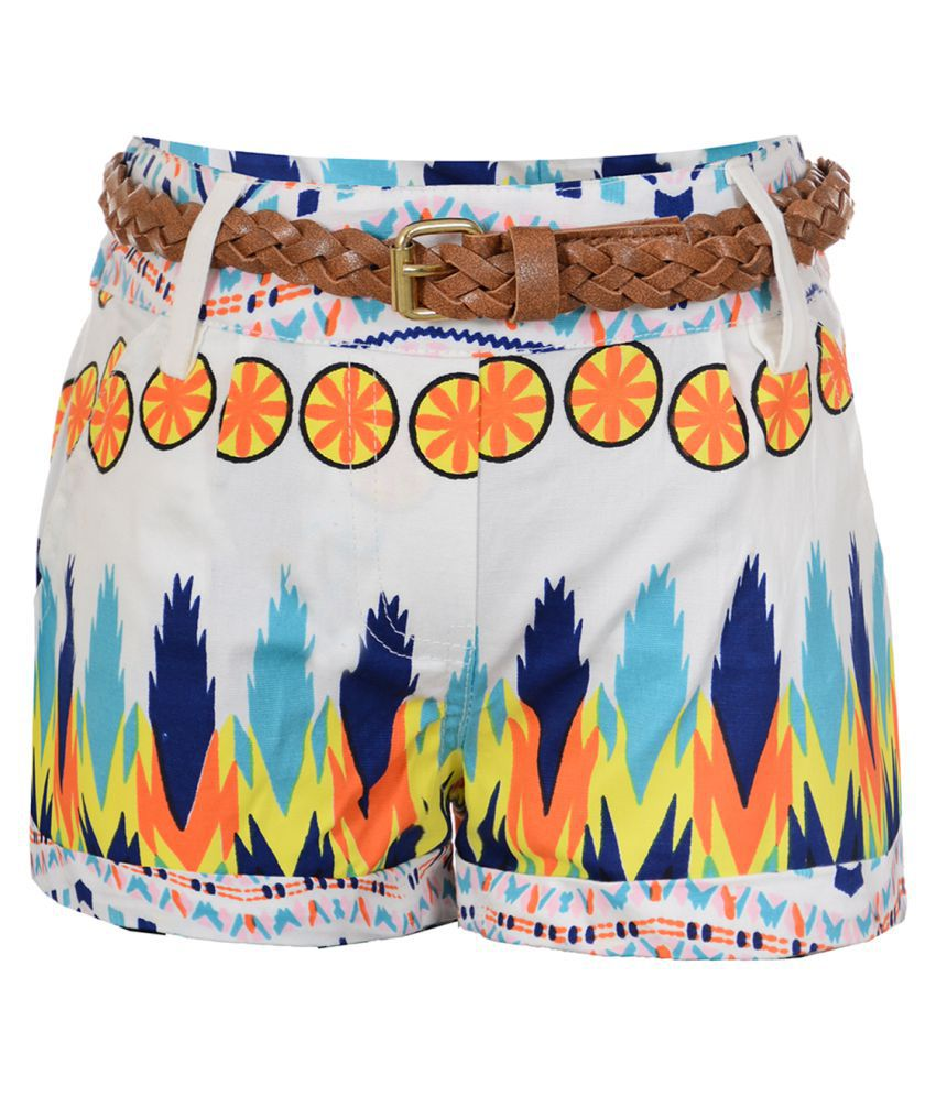 Naughty Ninos Multicolor Hot Pants with Belt
