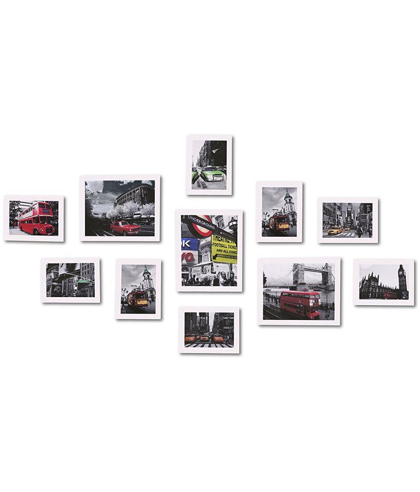 Swadesistuff MDF Wall Hanging White Photo Frame Sets
