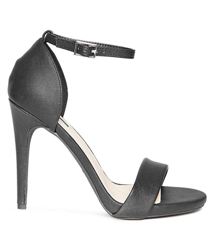168eb831c18 Forever 21 Black Stiletto Heels Price in India- Buy Forever 21 Black ...