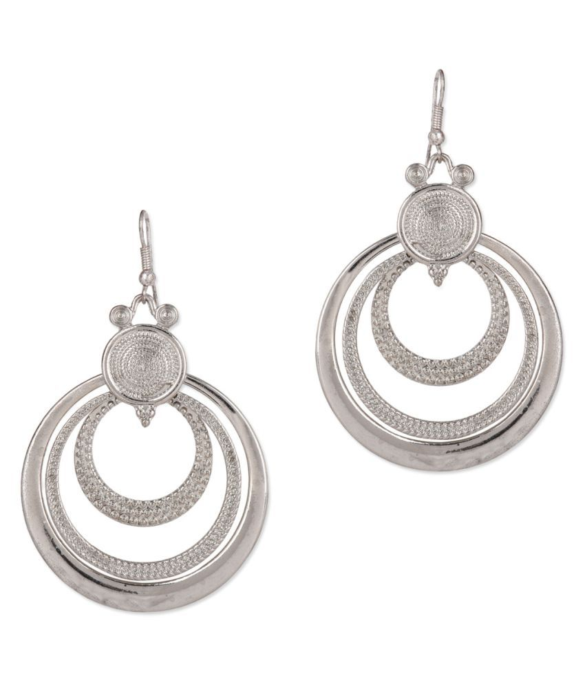 Jewelizer Silver Hangings for Women