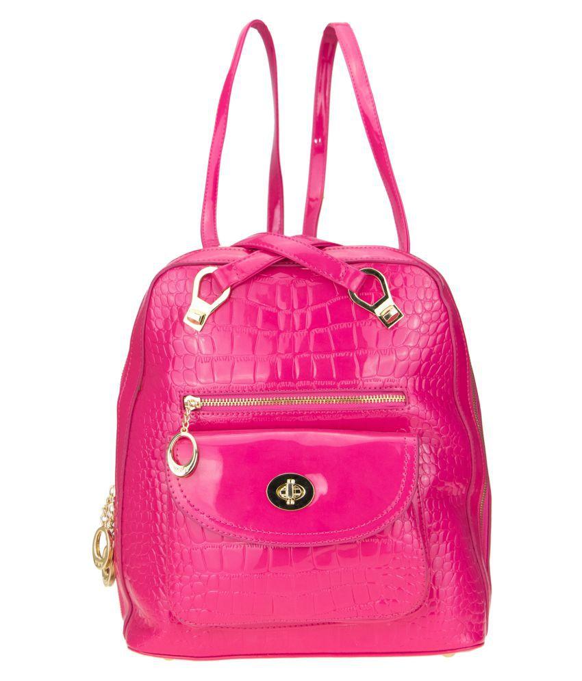 Kaos Pink P.U. Backpack