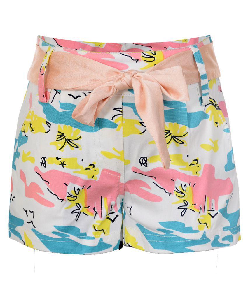 Naughty Ninos Girls Multicolour Printed Shorts