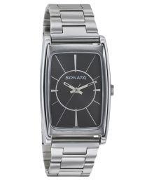 Sonata Silver Analog Watch