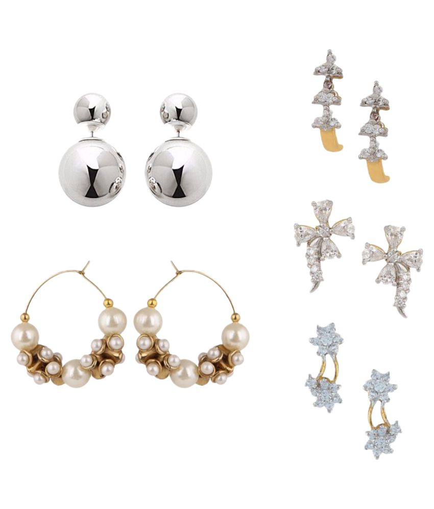 Archi Collection Multicolour Earrings - Pair of 5