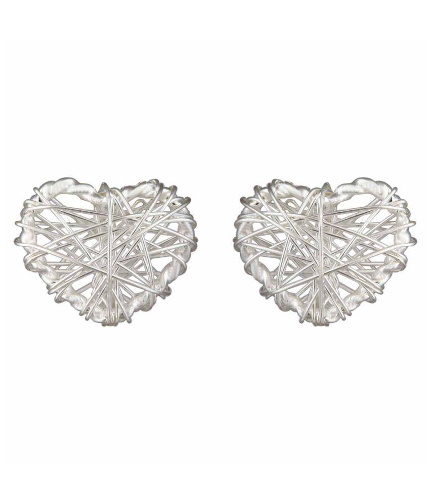 MirrorWhite 92.5 Silver None Studs