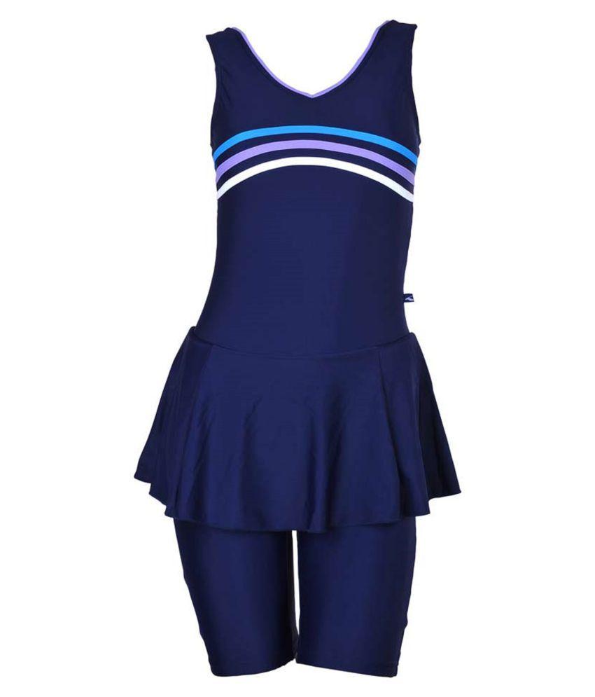 Champ Lycra Women Swimwear Sleeveless Frock with Half Length Shorts