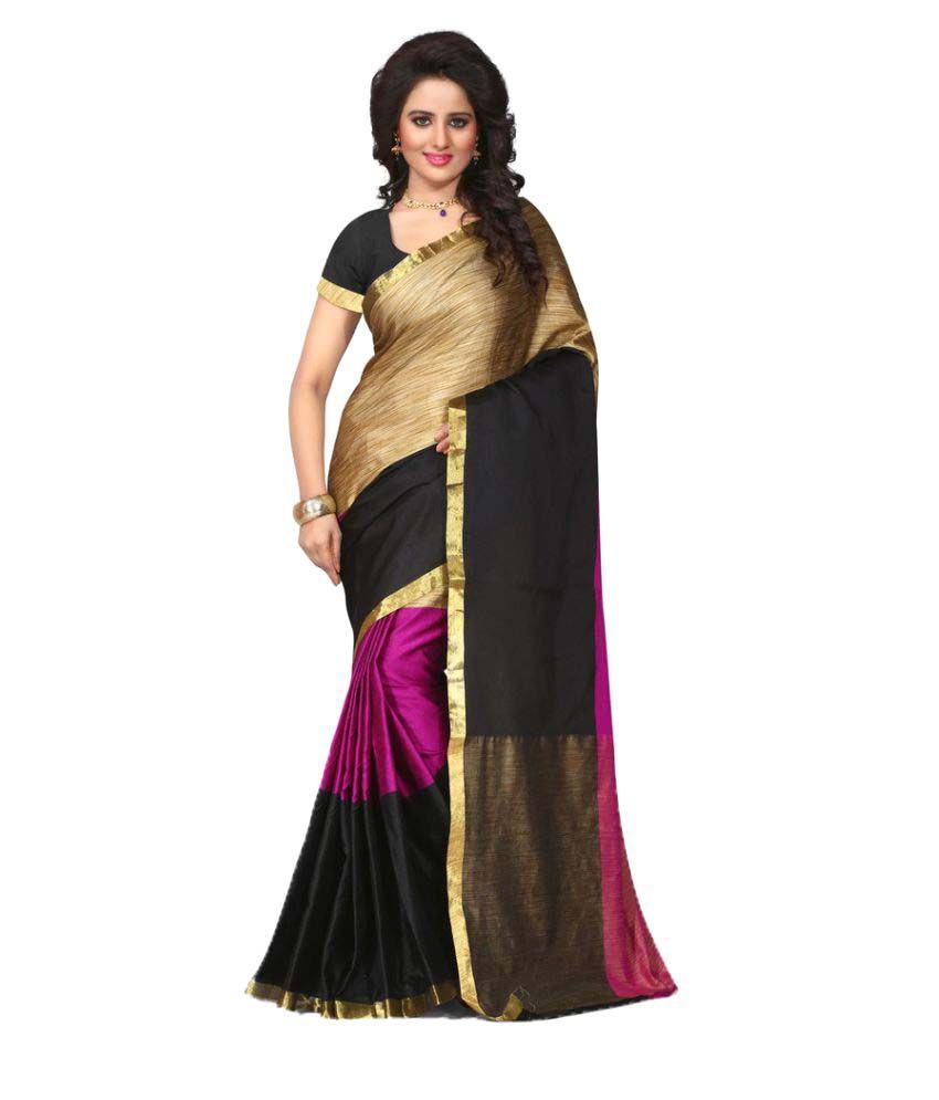Saleking Multicoloured Art Silk Saree