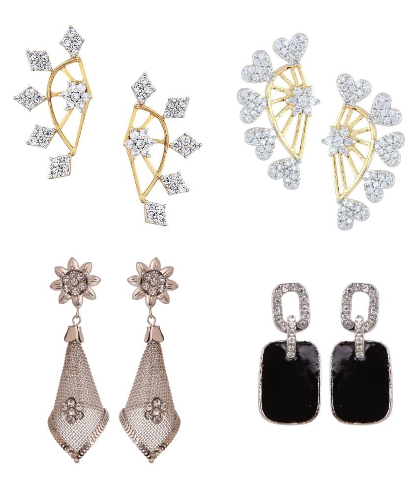 Efulgenz Combo of Earrings for Girls and Women