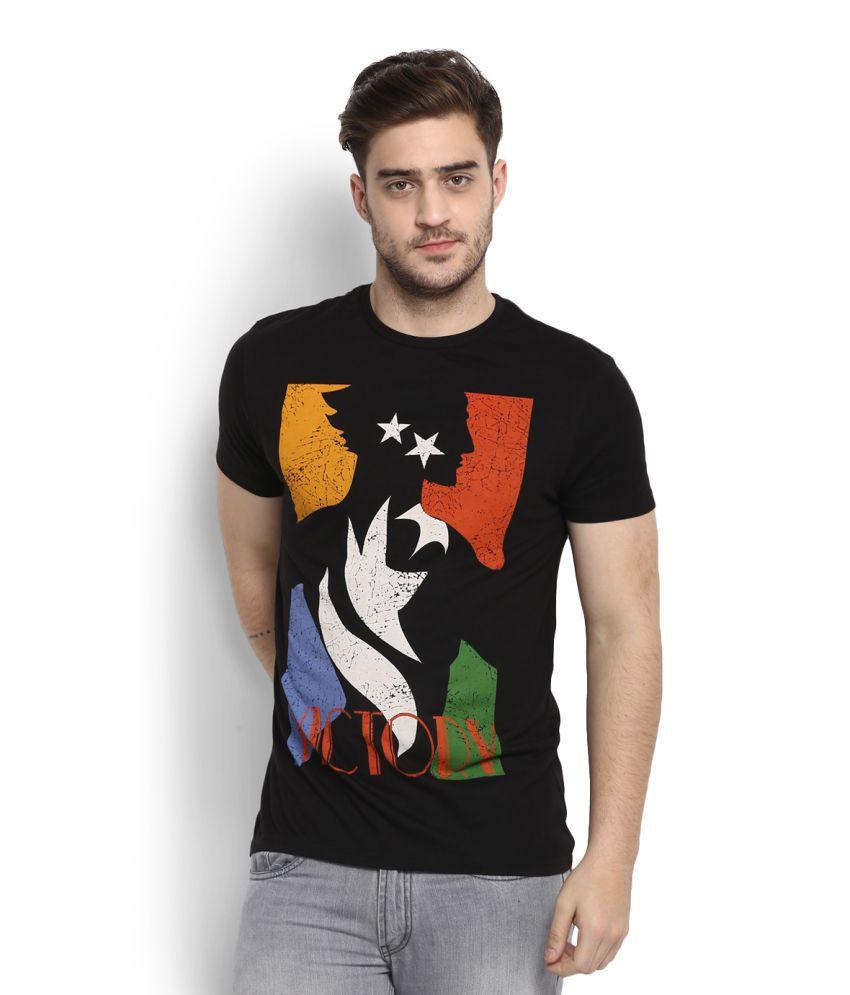 People Black Round T-Shirt