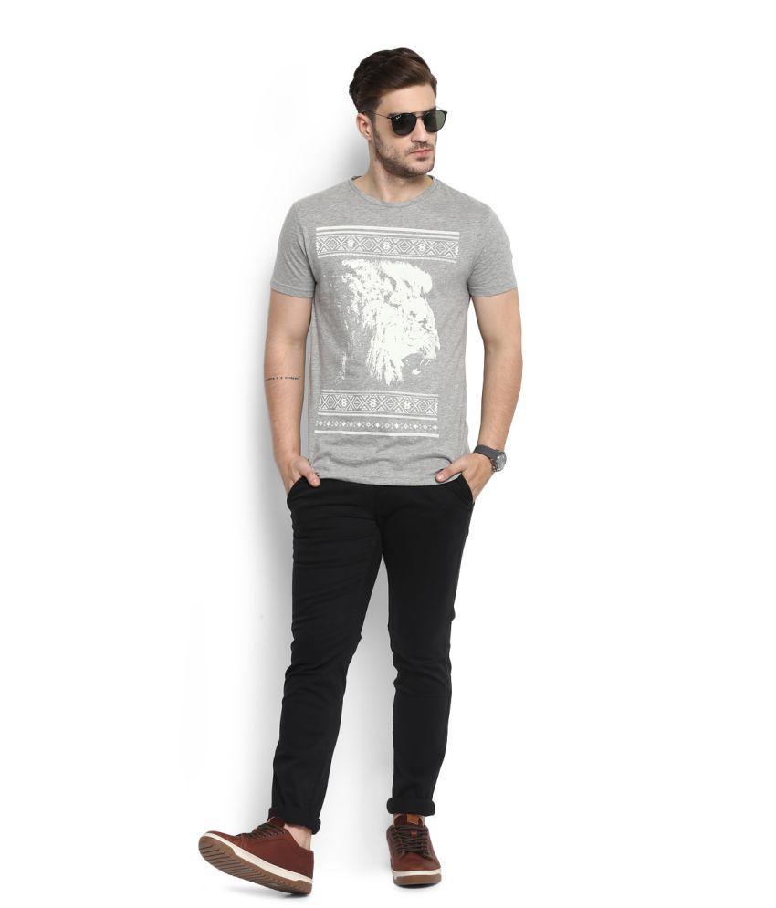 People Grey Round T-Shirt