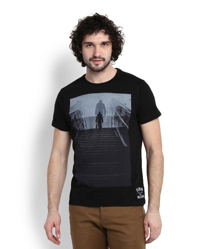 Allen solly Black T-Shirt
