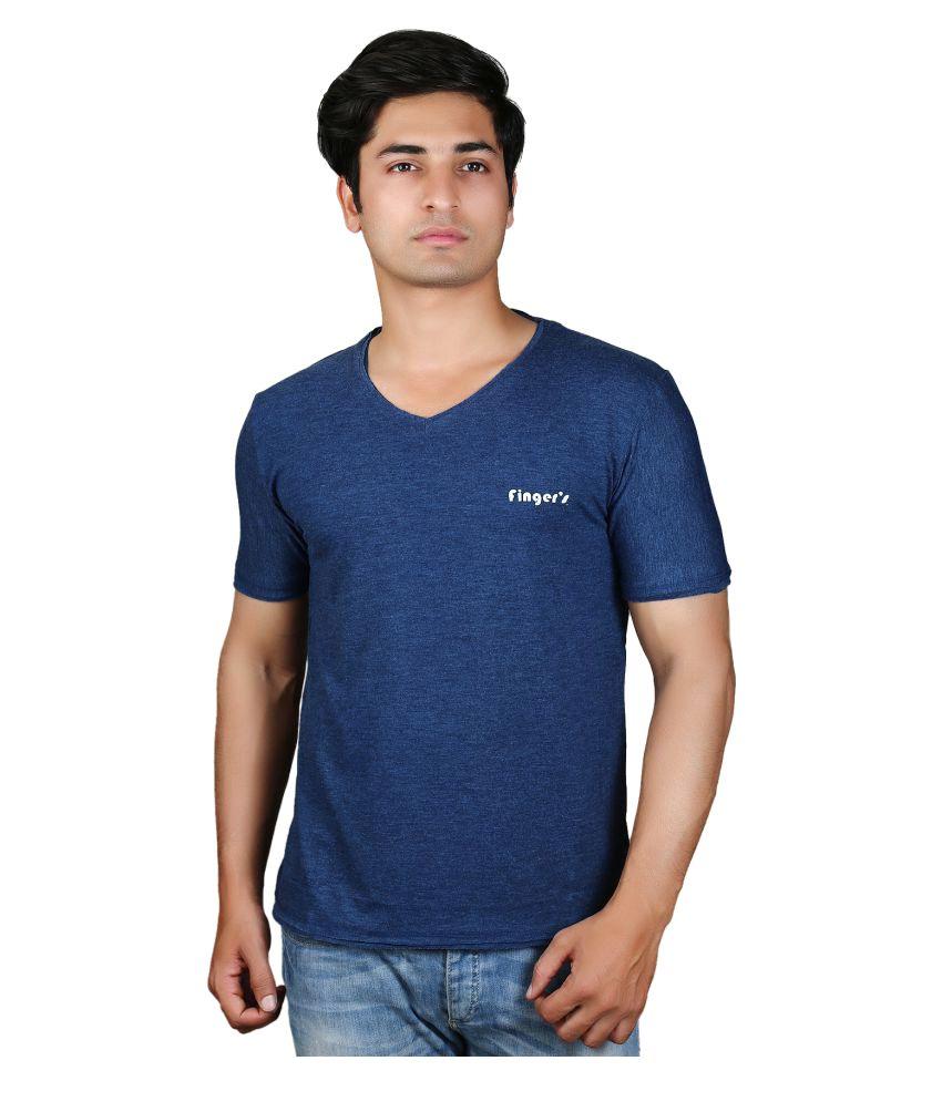 Finger's Blue V-Neck T-Shirt
