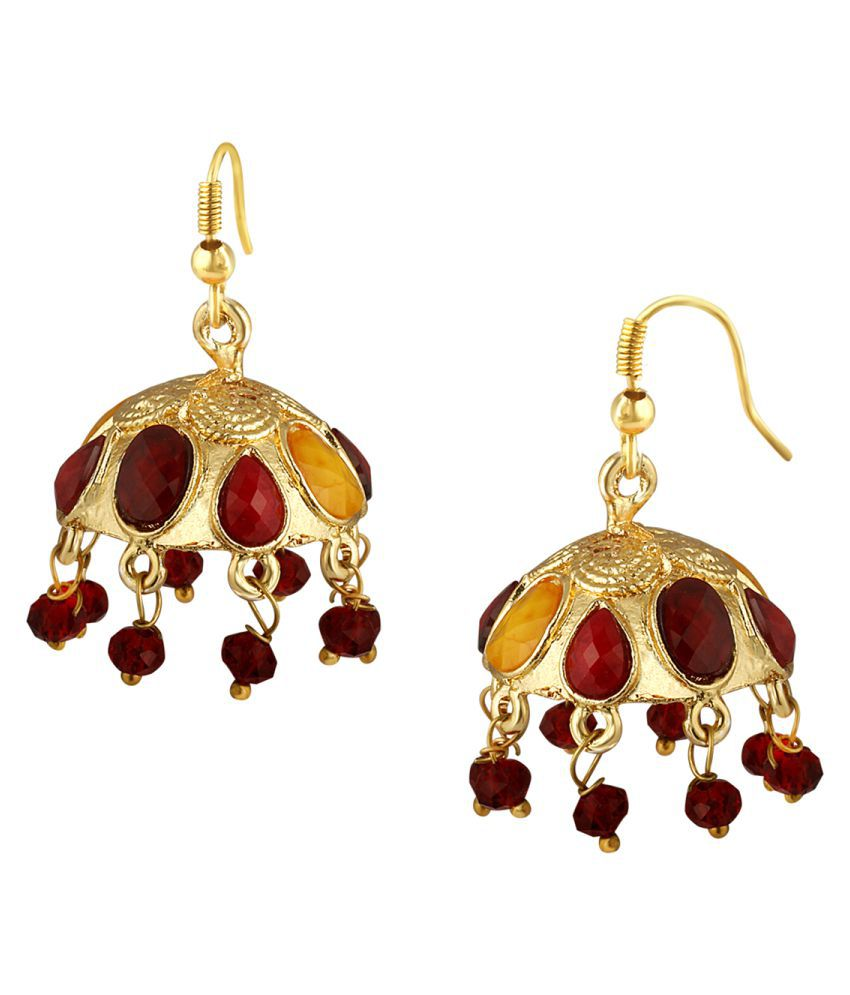 Spargz Gold Plated Traditional Fashion Jhumki Earrings