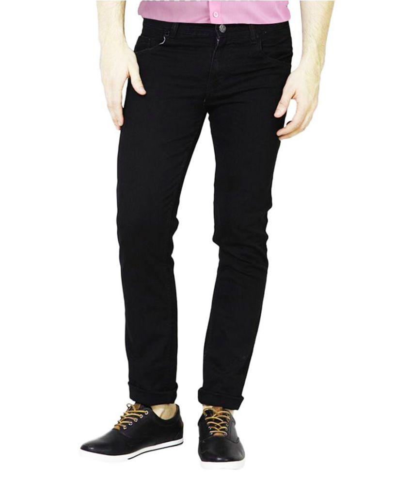 Masterly Weft Black Straight Jeans