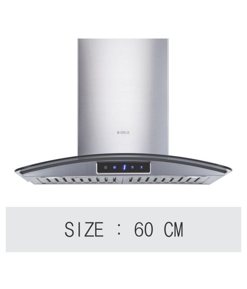 Elica Kitchen Chimney 60 Cm 1150 M3 H Glace Ltw Plus