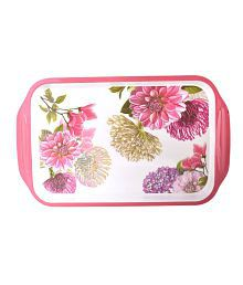 Truenow Ventures Pvt. Ltd. Melamine Rectangular Shape Printed Serving Tray