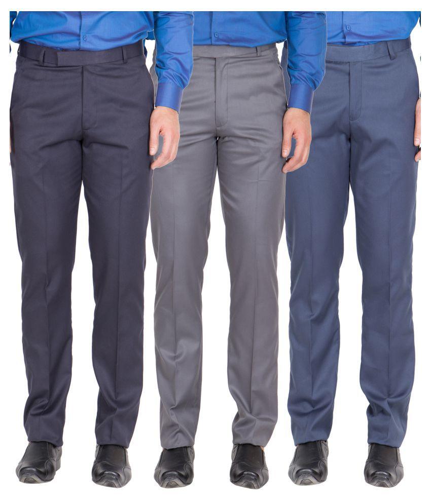 American-Elm Multicolored Regular Flat Trousers