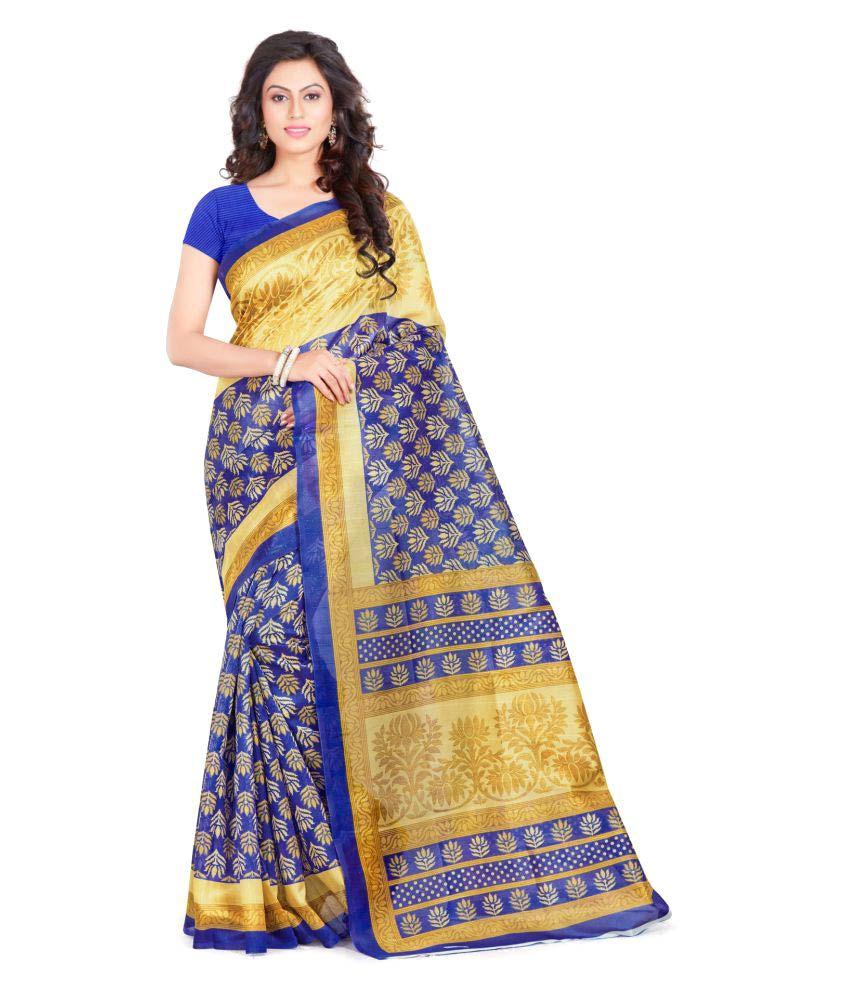 Mayloz Multicoloured Bhagalpuri Silk Saree