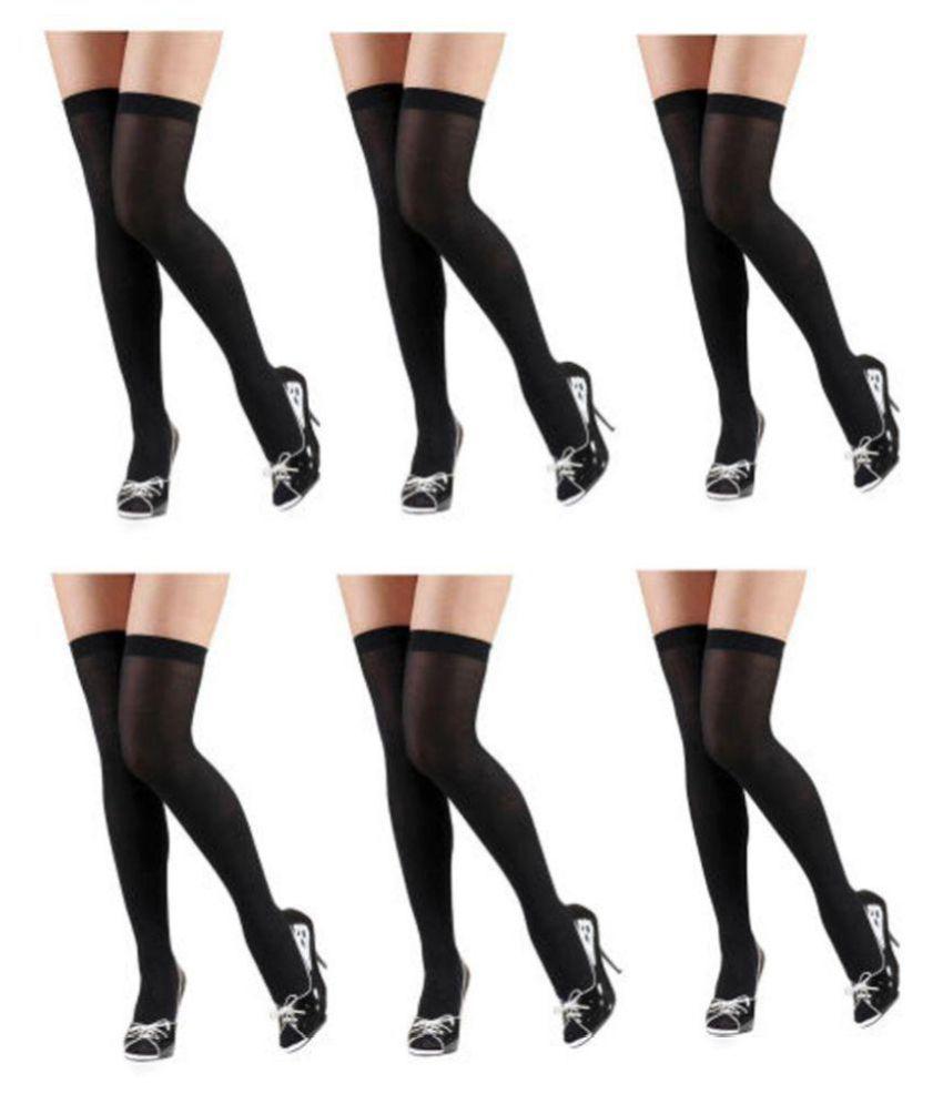Fashion Guru Trading Co. Women's Regular Fit Black Stocking