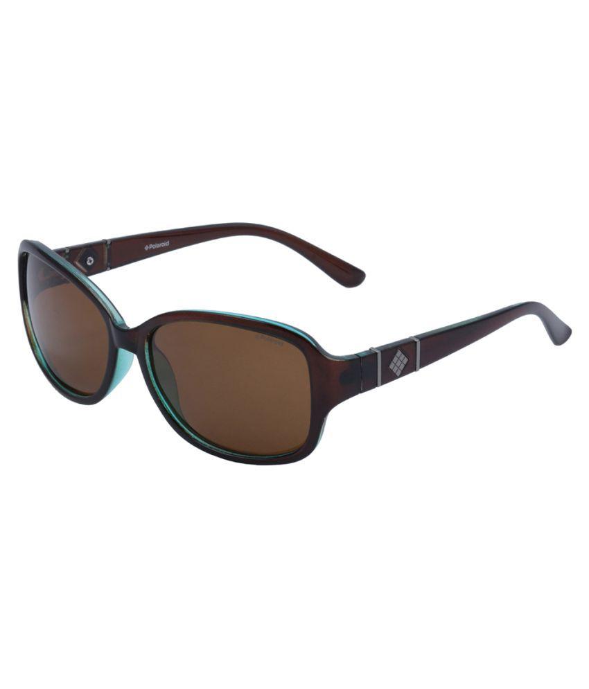 Polaroid Brown Oval Sunglasses ( P8418C-09Q )