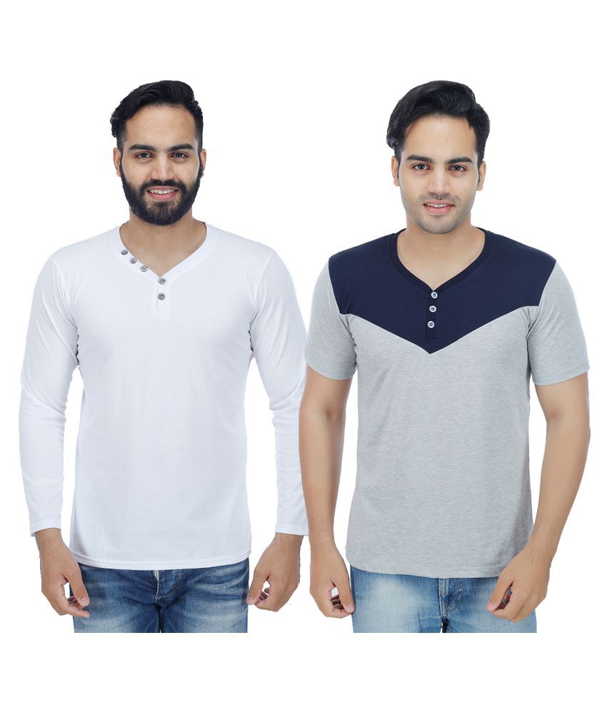 Christy's Collection Multi V-Neck T-Shirt Pack of 2