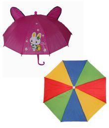 Urooj Multicolor Umbrella - Pack Of 2