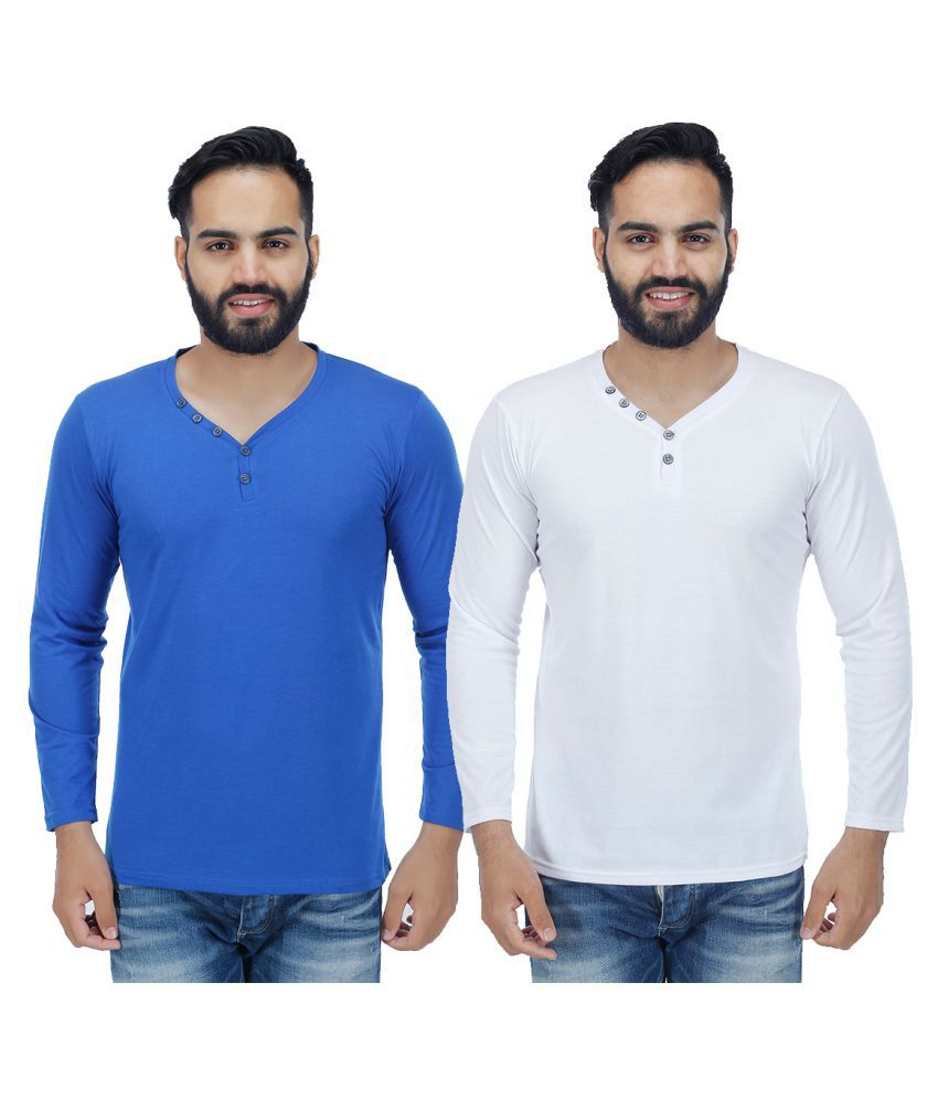 Rakshita's Collection Multi V-Neck T-Shirt Pack of 2
