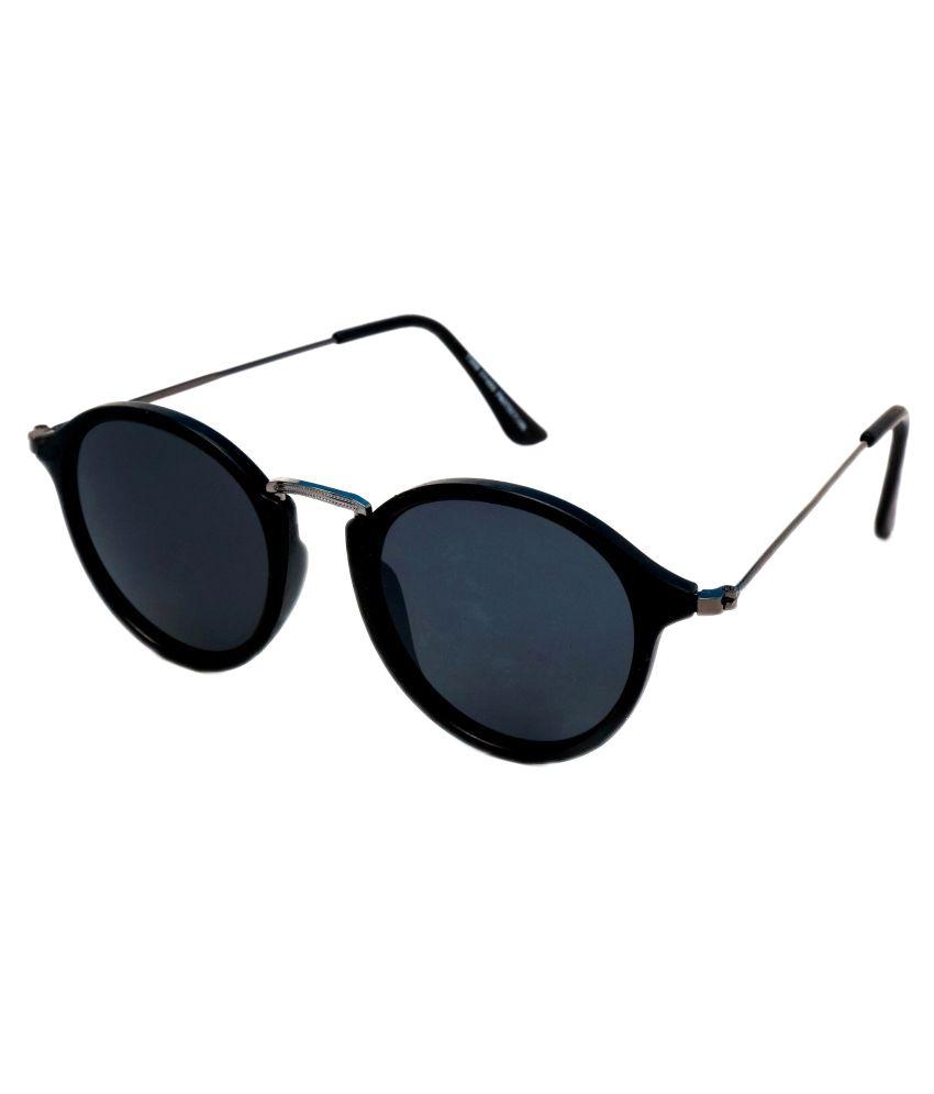Thewhoop Black Round Sunglasses