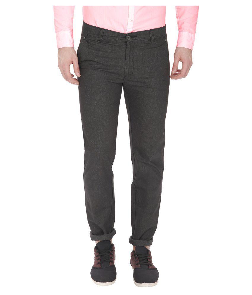 Gradely Grey Slim Flat Trousers