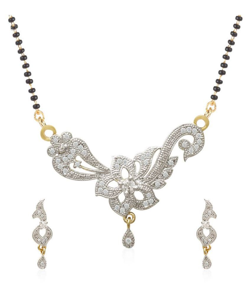 Jewels Galaxy Elegant Precious American Diamond Mangalsutra Set