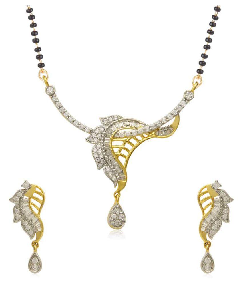 Jewels Galaxy American Diamond Mangalsutra Set