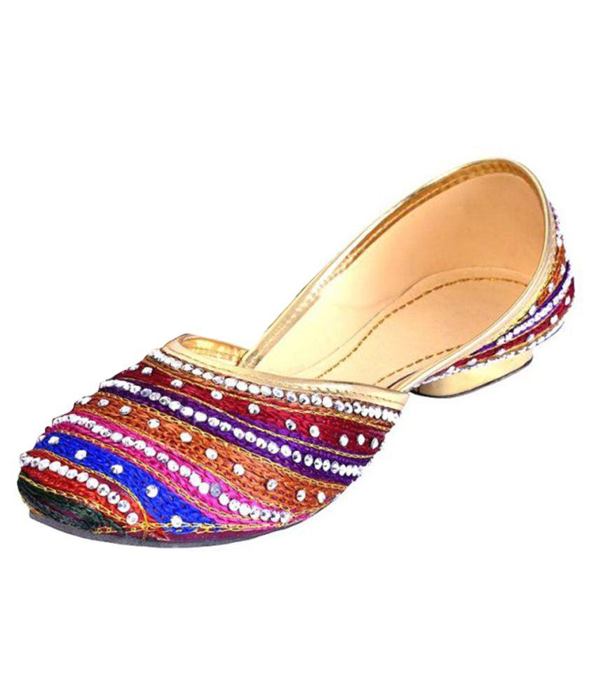 Ethnic Treat Multi Color Flat Ethnic Footwear