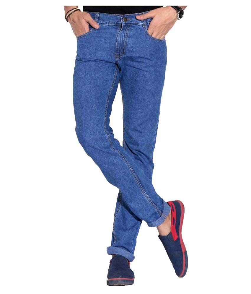 Fizzaro Light Blue Regular Fit Jeans