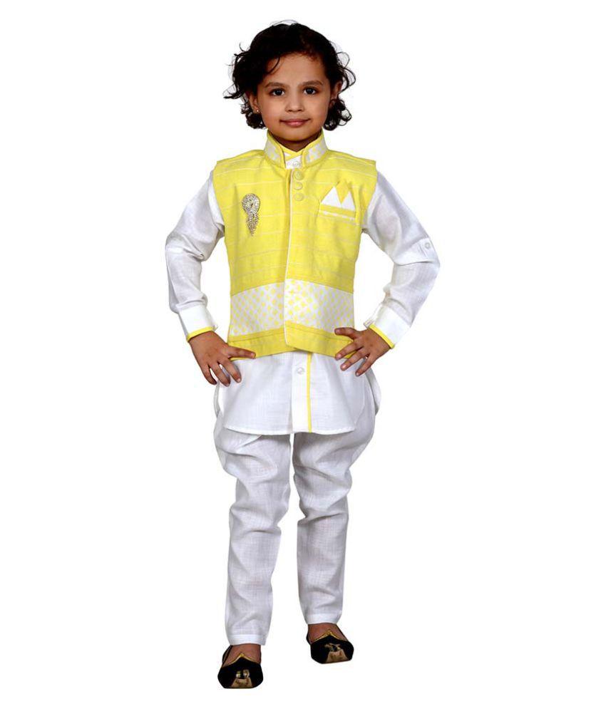 J D Creation Multicolour Cotton Indo Western Set