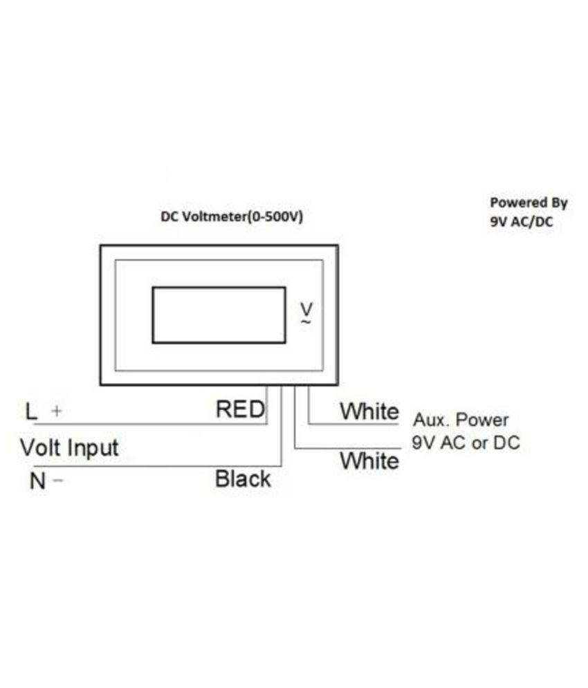 Buy Yokins Digital Display Dc Voltmeter 0 50v Powered By 9v Ac Voltmeters