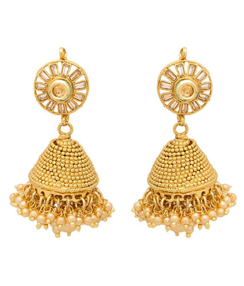 Voylla Alloy Jhumka Earrings for Women
