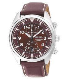 Seiko Snn241 Red Chronograph Mens Watch