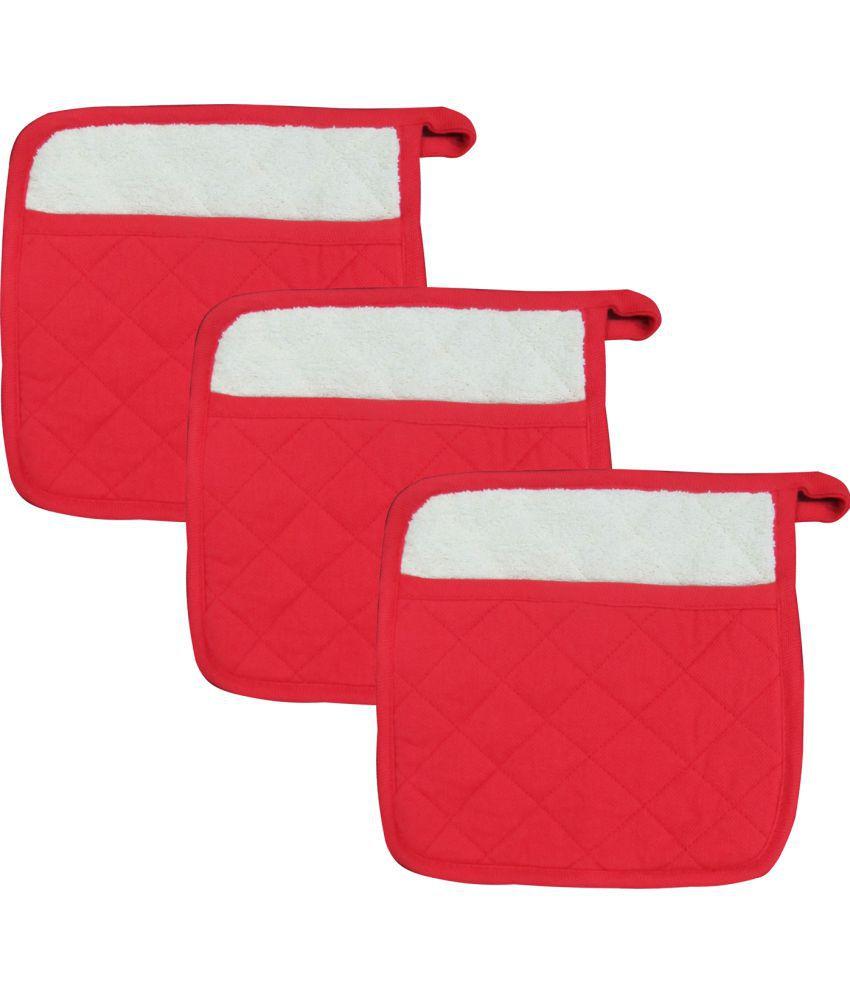 Airwill Cotton Designer Kitchen Linen Pot Holder- Pack of 3