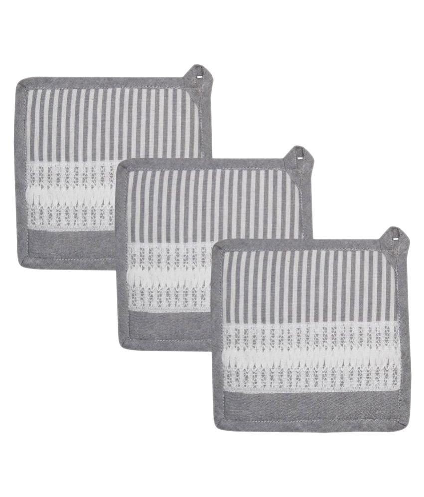 Airwill Cotton Designer Oven Pot Holder - Pack of 3