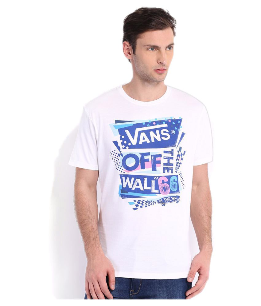 Vans White Cotton T-Shirt Single Pack
