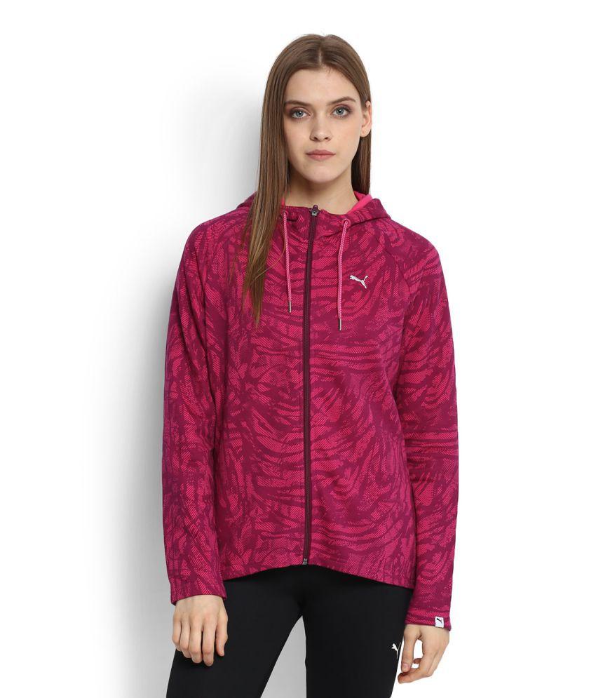 Puma Purple Cotton Blend Sports Sweatshirt