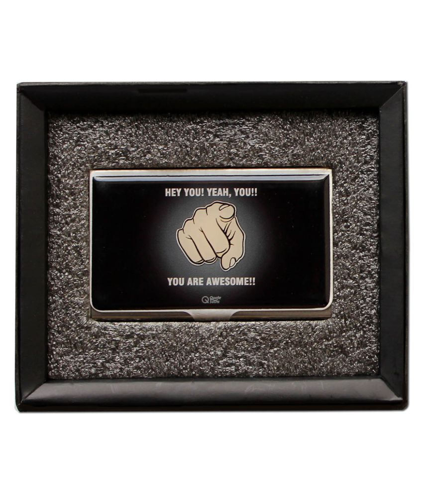 Quotesutra you are awesome quote business card holder buy online at quotesutra you are awesome quote business card holder reheart Gallery