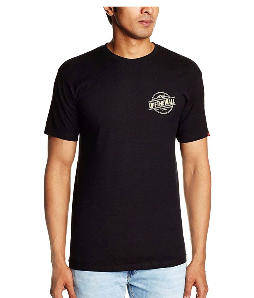 Vans Black Cotton T-Shirt Single Pack